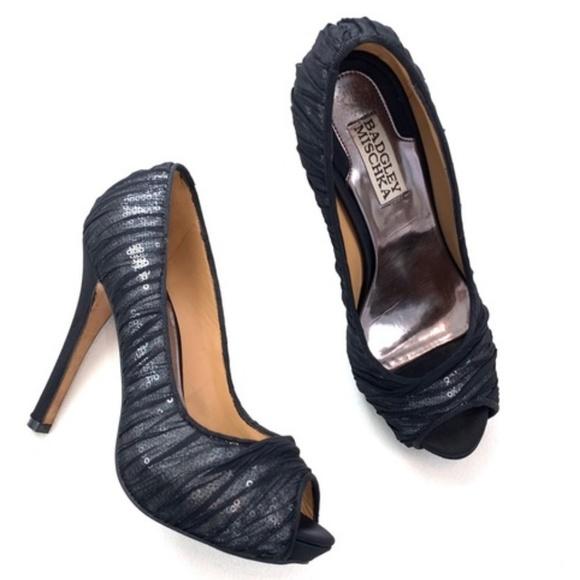 Badgley Mischka Shoes - Badgley Mischka Star Mesh Sequin Pump Sz 7.5